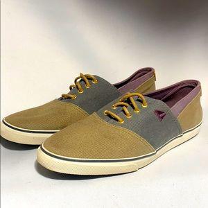 Bass Canvas Sneakers 3156W Olive Blue Purple Sz 9
